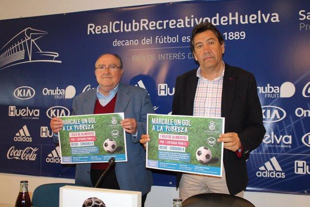Campaña del Recreativo de Huelva y el Banco de Alimentos de Huelva.
