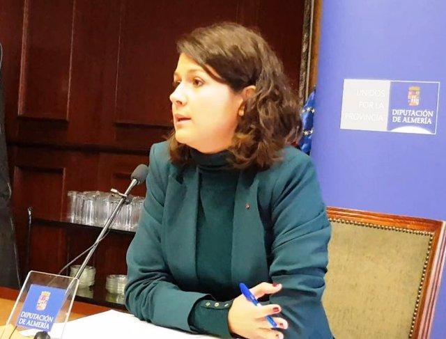 La coodinadora de IU en Almería, María Jesús Amate