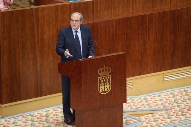 Gabilondo en el Pleno de la Asamblea de Madrid