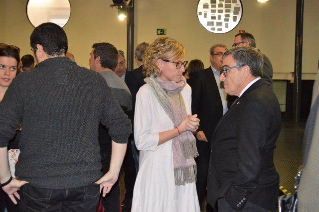 Montse Mínguez con el alcalde de Lleida Àngel Ros en una imagen de archivo