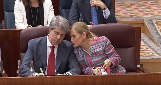 Cristina Cifuentes declara en el pleno del Máster