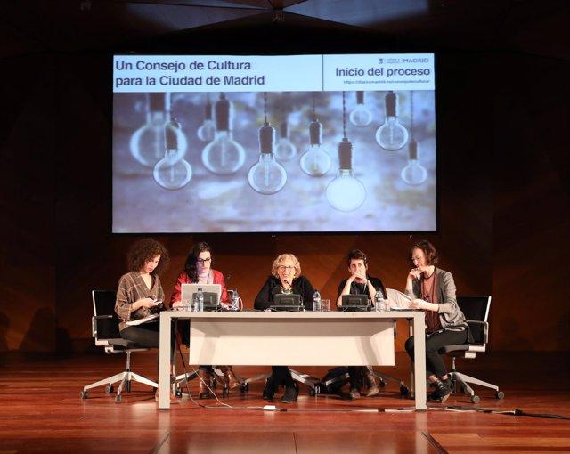 Manuela Carmena en la presentación del Consejo de la Cultura de la capital