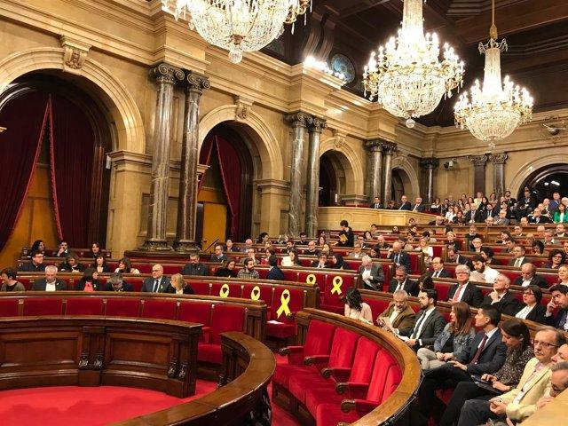 Pleno del Parlament en una sesión anterior