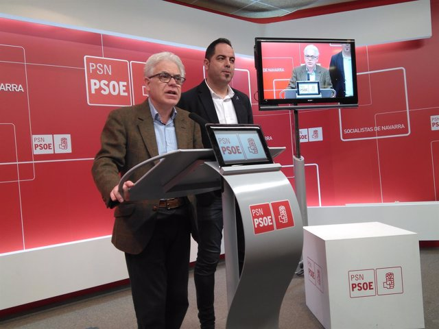 Jesús Mari Fernández y Ramón Alzórriz, del PSN