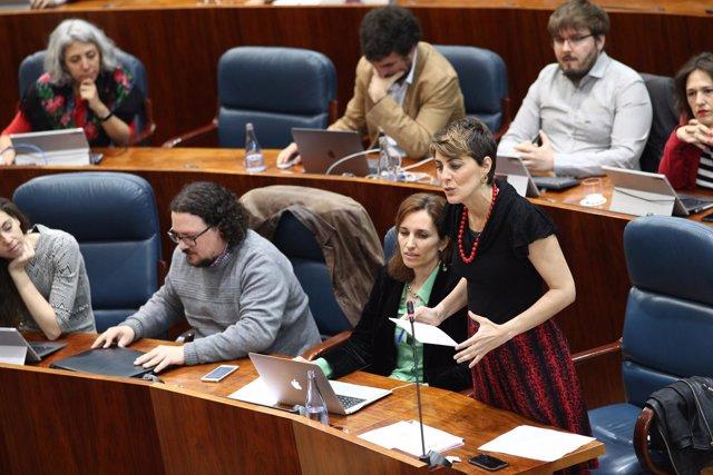 Intervención de la portavoz de Podemos en la Asamblea, Lorena Ruiz Huerta