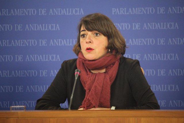 La parlamentaria de IULV-CA Elena Cortés