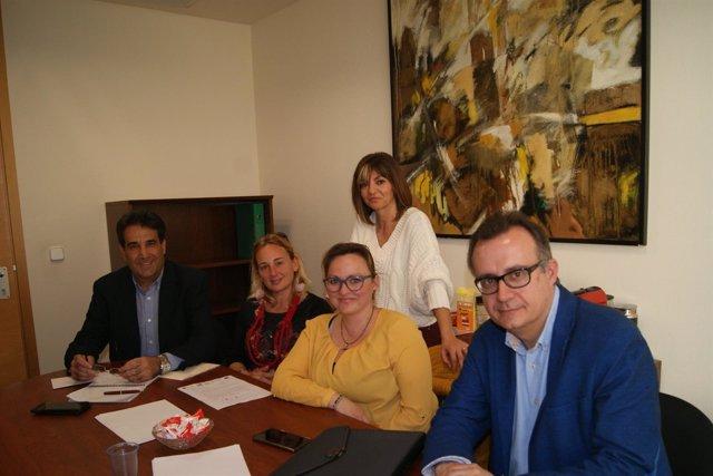 Reunión PSOE con el AMPA del CEIP San Cristóbal de Cartagena