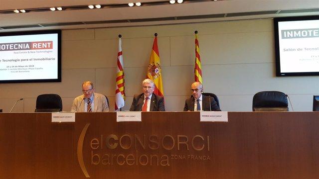 Ramon Corominas (API), Jordi Cornet (CZFB) y Hervé Parent (Realnewtech)