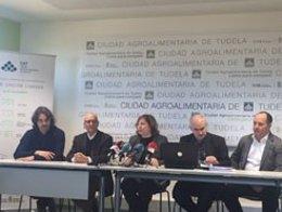 Rueda de prensa en la Ciudad Agroalimentaria de Tudela