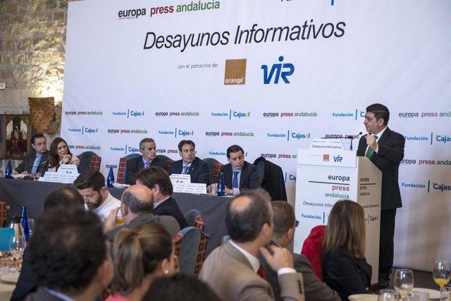 Francisco Reyes interviene en los desayunos de Europa Press Andalucía.