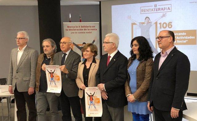 Representantes de organizaciones sociales presentan 'Rentaterapia', 5-4-18