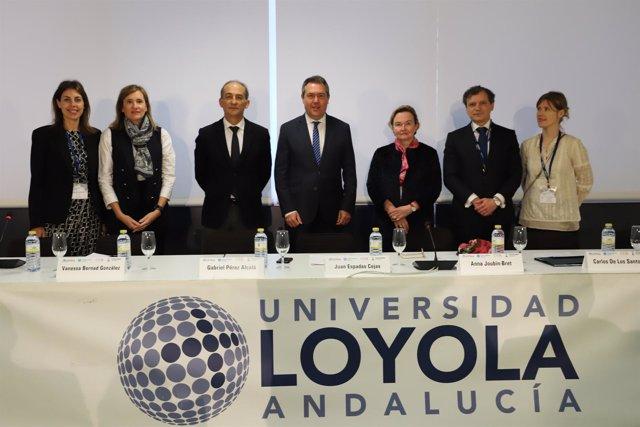 Inauguración de congreso sobre arbitraje internacional en la Universidad Loyola