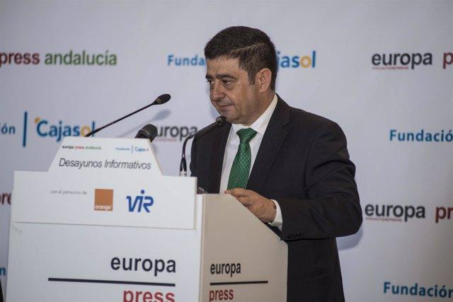 Francisco Reyes interviene en el desayuno informativo de Europa Press Andalucía.