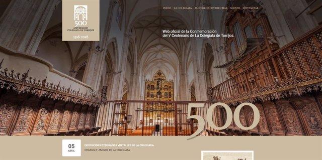 Web de la Colegiata de Torrijos