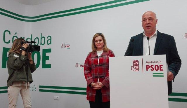 Ruiz interviene junto a la diputada del PSOE María Jesús Serrano
