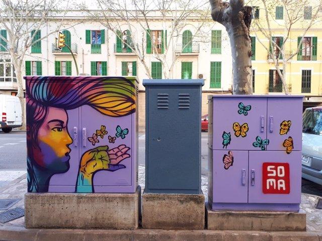 Intervención arte urbano en Santa Pagesa