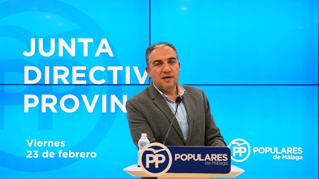 Elías Bendodo, presidente del PP de Málaga
