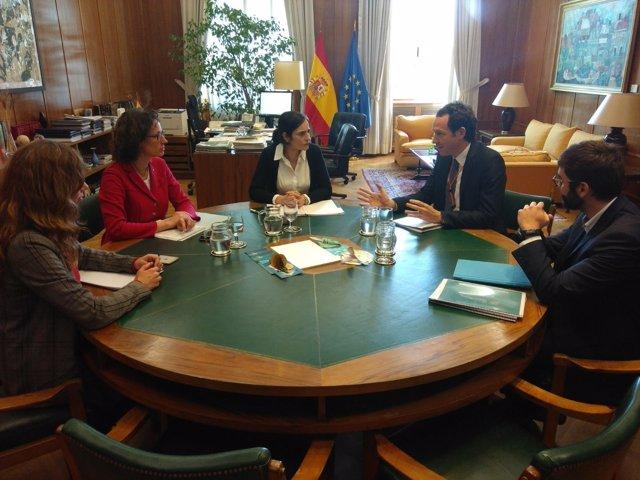 Reunión en el Ministerio de Medio Ambiente con el Gobierno balear