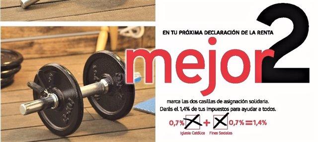Cartel campaña para animar a marcar las X en la Declaración de la Renta