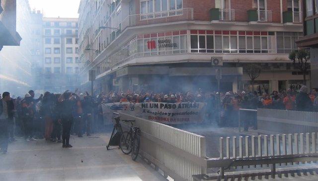 Protesta Trabajadores Tubos Reunidos