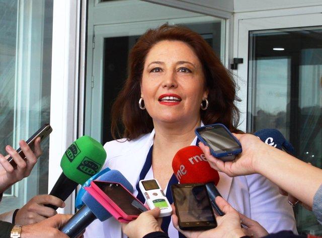 Carmen Crespo, portavoz del PP-A en el Parlamento andaluz