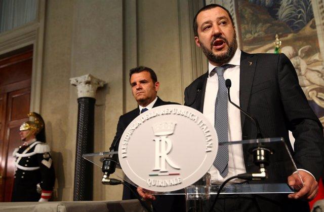 Matteo Salvini en el Quirinale