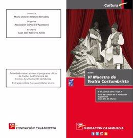 Cartel de la VI Muestra de Teatro Costumbrista de Murcia
