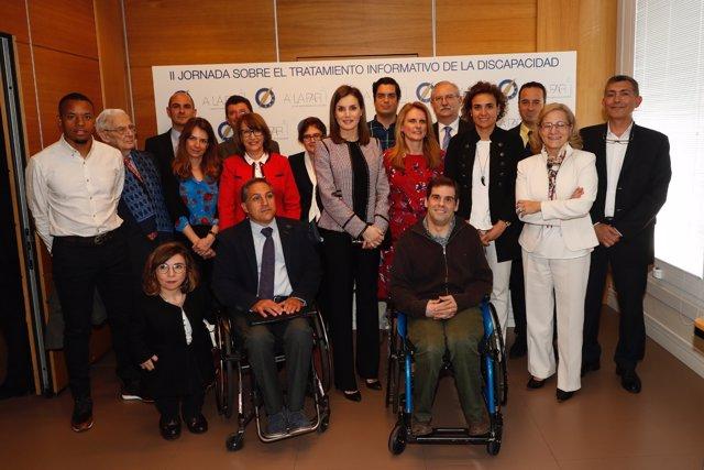 II Jornada sobre tratamiento informativo de la discapacidad con la reina Letizia