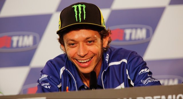 Valentino Rossi en rueda de prensa