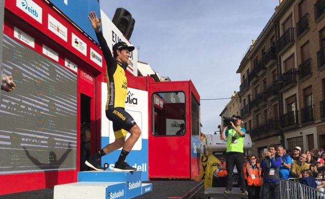 El ciclista esloveno Primoz Roglic (LottoNL-Jumbo)