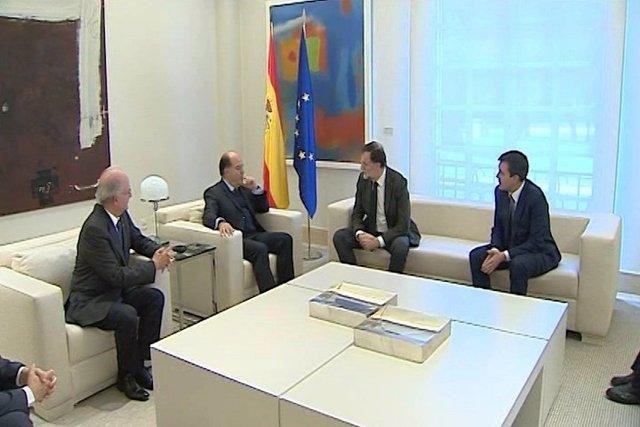 Mariano Rajoy reunido con opositores venezolanos en La Moncloa