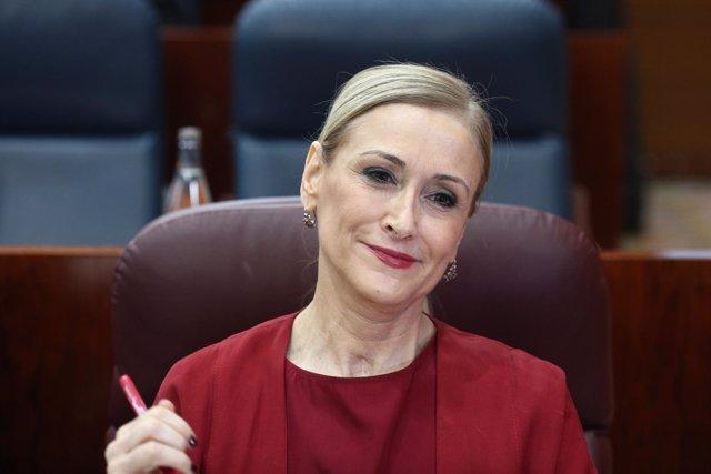 Cristina Cifuentes comparece en la Asamblea de Madrid