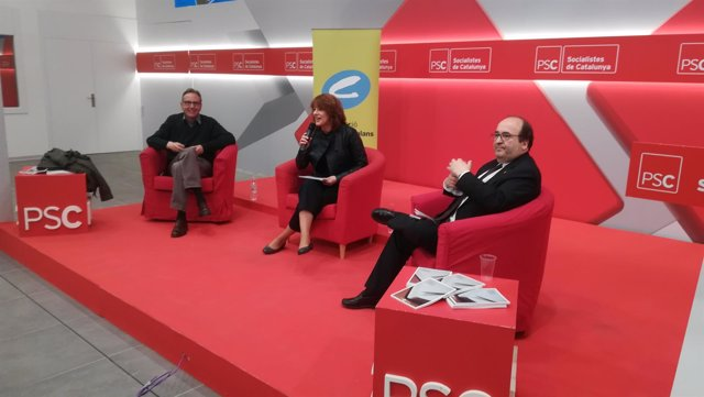 Raimon Obiols, Laia Bonet y Miquel Iceta