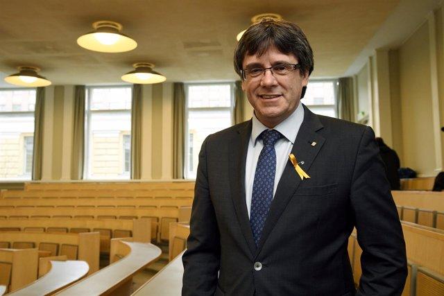 Carles Puigdemont, expresident de la Generalitat de Cataluña