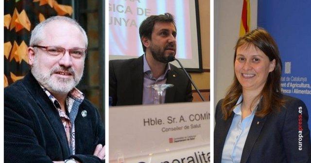 Los tres exconsellers huidos en Bélgica Lluís Puig, Toni Comín y Serret