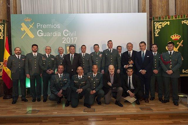 Galardonados en los premios 'Guardia Civil 2017'