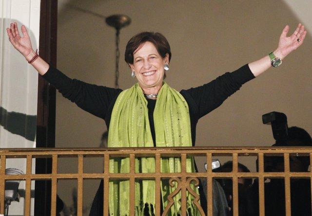 Candidata a la alcaldía de Lima, Susana Villarán