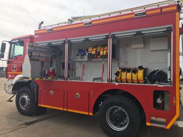 Nuevo vehículo adquirido por el Consorcio de Bomberos de la Diputación