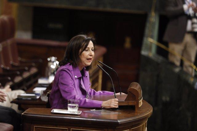 Margarita Robles interviene en el Pleno del Congreso sobre pensiones