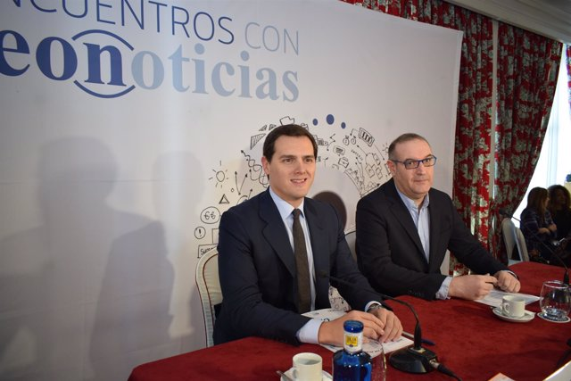 Albert Rivera, en León. 6-04-18