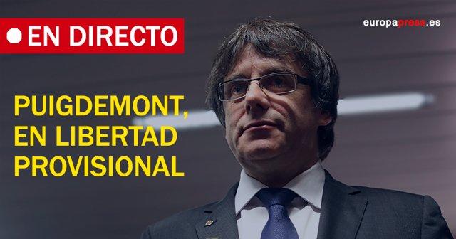 Puigdemont, en libertad provisional