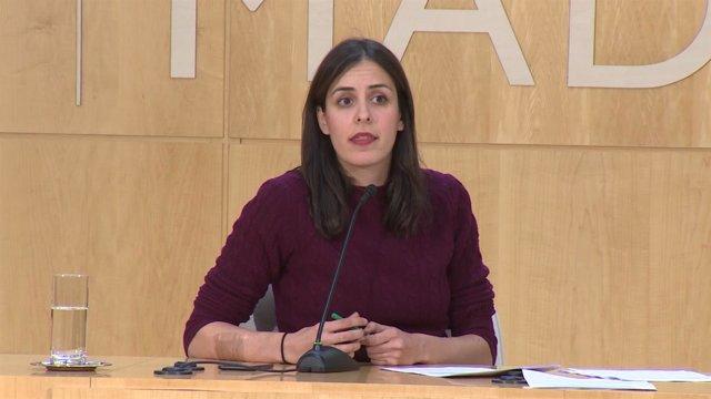 Rita Maestre declarando en el pleno del Ayuntamiento de Madrid