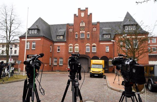 Fachada de la cárcel de Neumuenster, en Alemania, donde está preso Puigdemont