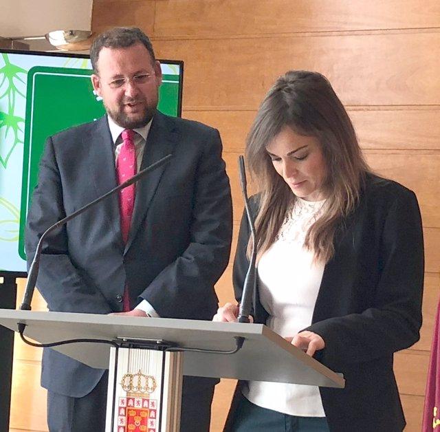 Pepe Guillén y Rebeca Pérez