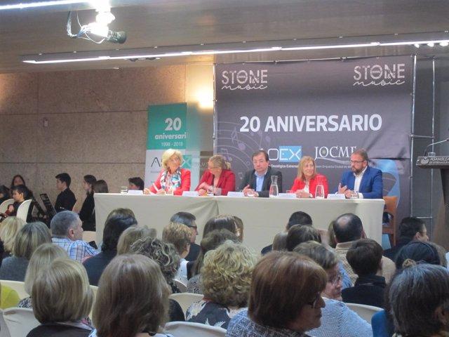 Actos del XX aniversario de la Asociación Oncológica de Extremadura