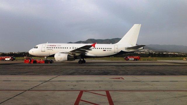 Air Malta avión vuelo directo Málaga La Valeta España Costa del Sol Malta