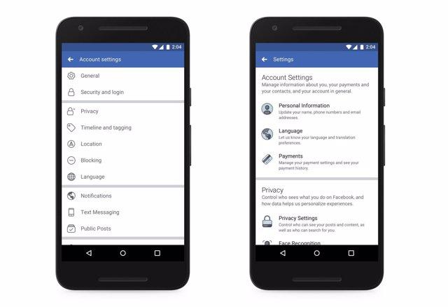 Facebook rediseña sus opciones de privacidad