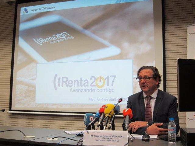 El delegado de la Agencia Tributaria en Murcia, Alfonso del Moral
