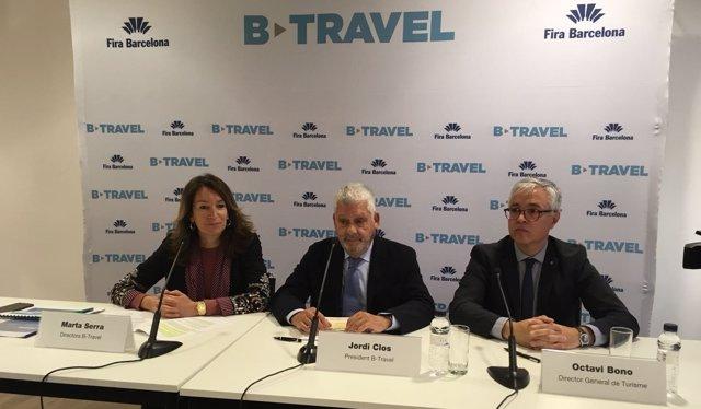 Presentación del B-Travel 2018 en la Fira de Barcelona