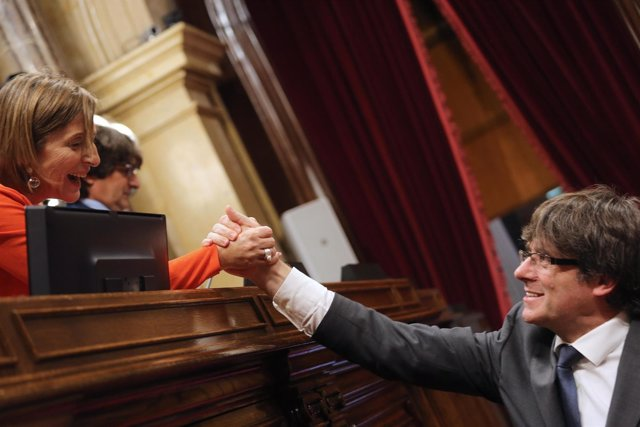 C.Puigdemont y C.Forcadell (Archivo)